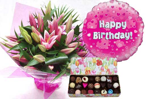 Image result for photos of birthday gifts and flowers for women