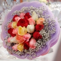 24 Mixed Roses Posy
